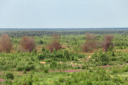 bombard: Esplosioni di colpi di mortaio presso la discarica