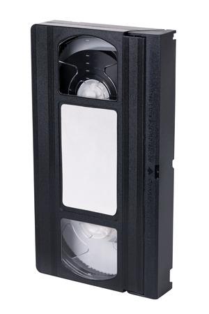 videocassette: Old video cassette standard VHS, isolated on white