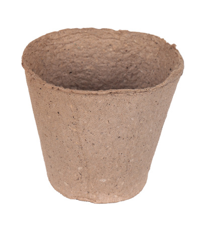 peaty: Peat pot for growing seedlings, isolated on white background