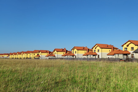 New cottage settlement in the field
