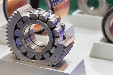 Roller bearing in the cut, showing the mechanism photo
