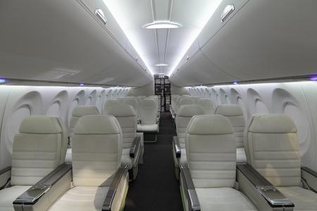 旅客機のモダンなインテリア 写真素材
