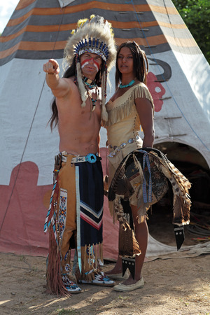 swarty: Indians man and woman stand