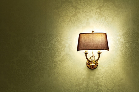 lamp shade: Wall lamp with a shade  Stock Photo