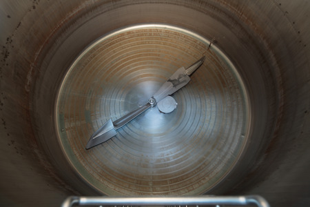 Brewing production - mash vat, inside view photo