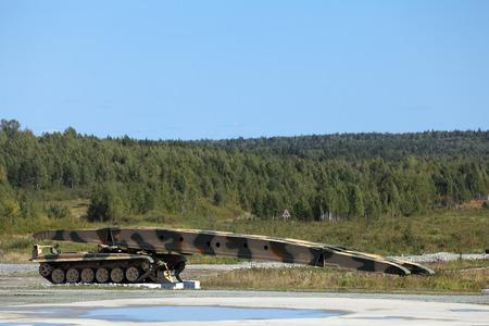 bridged: Armoured vehicle-launched bridge (AVLB) Stock Photo