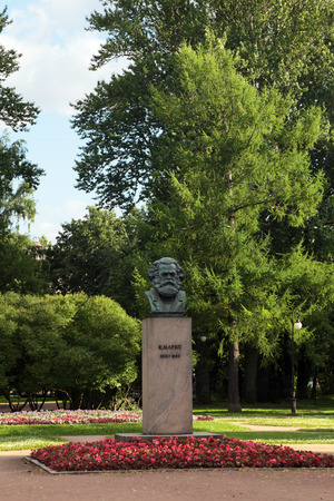 sociologist: A bronze sculpture by Karl Marx in St. Petersburg, Russia. The monument was established in 1932 Editorial