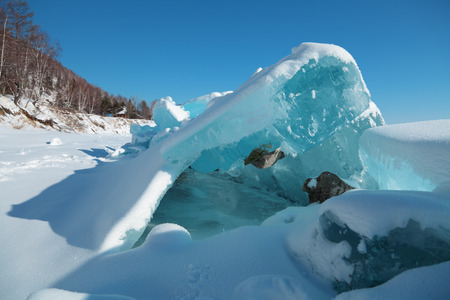 ice floes: Ice hummocks in the winter at lake Baikal, Siberia, Russia