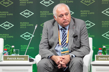 NIZHNY TAGIL, RUSSIA - SEP 25: Patrick Auroy - Assistant Secretary General NATO for Defence Investment at the exhibition RUSSIA ARMS EXPO (RAE-2013) on September, 25, 2013 at Nizhny Tagil, Russia
