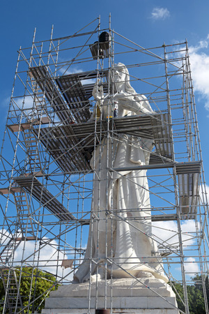 Restoration of the sculpture of Jesus Christ, city of Havana, Republic of Cuba photo