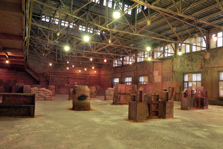 Hangar for game in paintball, nobody