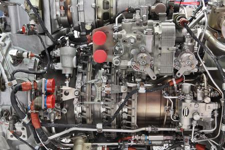 Frammento dell'elicottero motore, l'esposizione dettagliata Archivio Fotografico - 34653485