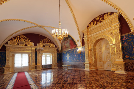 facets: Russia, Moscow, the Palace of the Facets - historical old building on the territory of the Kremlin built from 1487 to 1491, at the present time the ceremonial residence of the President of Russia. Holy canopy