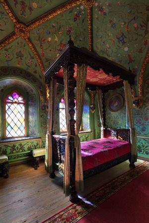bedchamber: Russia, Moscow, the Terem Palace - historical building on the territory of the Kremlin, a part of the Grand Kremlin Palace built in 1635-1636, at the present time the ceremonial residence of the President of Russia. Editorial