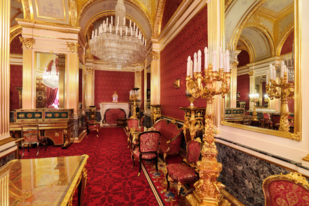 ceremonial: Russia, Moscow, Grand Kremlin Palace - historical old building built from 1837 to 1849, at the present time the ceremonial residence of the President of Russia. The Royal accommodations Editorial