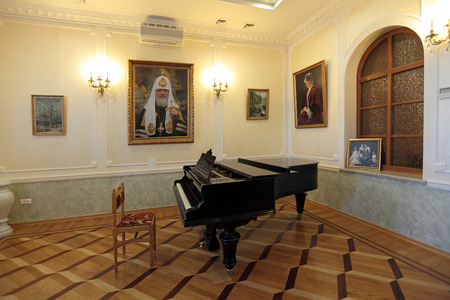 patriarchal: YEKATERINBURG, RUSSIA, SEP 24, 2013: The spiritually-educational center Patriarchal town Church, the Church of St. Nicholas, the Museum of the Royal family, personal Grand piano Grand Duchess