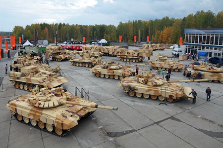 industrially: NIZHNY TAGIL, RUSSIA - SEP 24, 2013: The international exhibition of armament, military equipment and ammunition RUSSIA ARMS EXPO (RAE-2013)