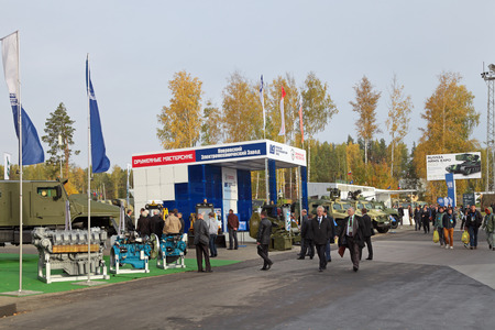 showpiece: NIZHNY TAGIL, RUSSIA - SEP 25, 2013: The international exhibition of armament, military equipment and ammunition RUSSIA ARMS EXPO (RAE-2013)