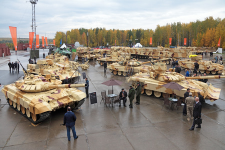 armament: NIZHNY TAGIL, RUSSIA - SEP 26, 2013: The international exhibition of armament, military equipment and ammunition RUSSIA ARMS EXPO (RAE-2013)