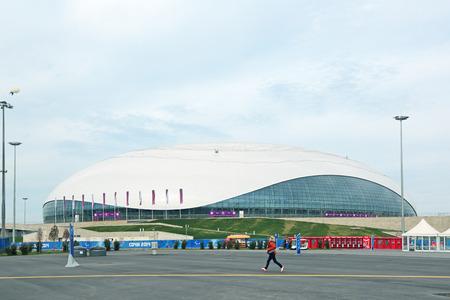 stadia: SOCHI, ADLER, RUSSIA - MAR 08, 2014: Bolshoy Ice Dome at Olympic Park in Adlersky District, Krasnodar Krai - venue for the 2014 winter Olympics Editorial