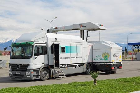 SOCHI, RUSSIA - MAR 16, 2014: Mobile inspection complex