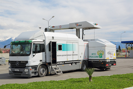 SOCHI, RUSSIA - MAR 16, 2014: Mobile inspection complex