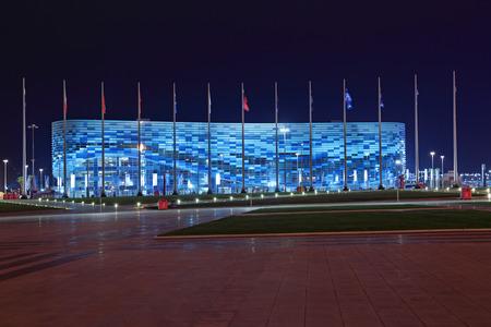 stadia: SOCHI, ADLER, RUSSIA - MAR 16, 2014: Iceberg Skating Palace at Olympic Park in Adlersky District, Krasnodar Krai - venue for the 2014 winter Olympics Editorial