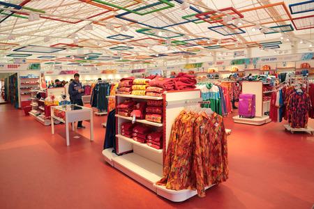 SOCHI, RUSSIA - MAR 22, 2014: Retail trade. Shop Olympic service Bosco, interior