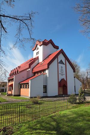 apostolic: The new Apostolic Church, the city of Kaliningrad, Russia Stock Photo