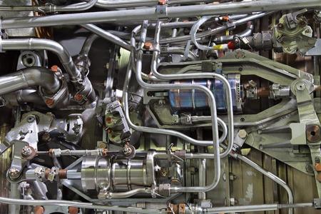 항공기 터보 제트 엔진의 조각 스톡 콘텐츠