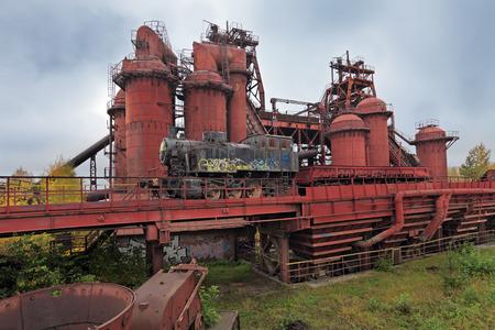 century plant: Ruins old abandoned steel plant last century, nobody