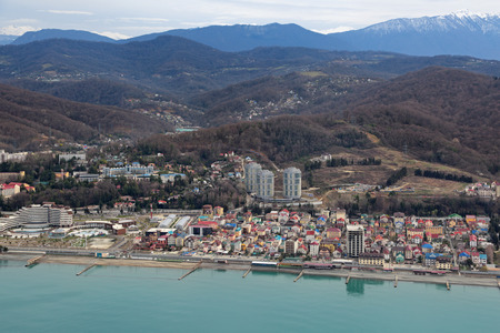 krasnodar region: Russia, Krasnodar krai, Sochi cityscape, the view from the height of the waterfront and district Chkalovskiy