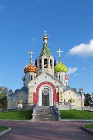 igor: Moscow, Peredelkino, the temple of the Holy Nobleborn Prince Igor of Chernigov. The unique porcelain-domes