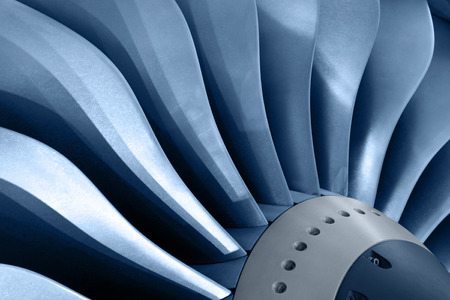 aircraft engine: Turbo-jet engine of the plane, close up
