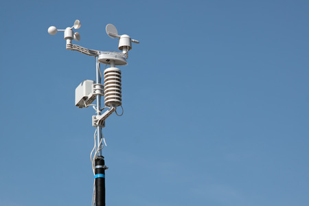 meteorological: Devices meteorological station on the blue  sky Stock Photo