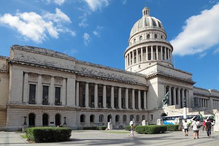 capitolio: HAVANA, REPUBLIC OF CUBA - DEC 11, 2013: The urban cityscape, historic center of city, Capitolio building Editorial