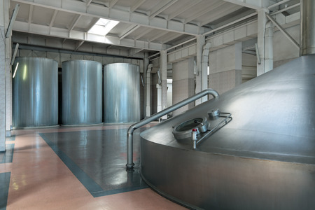 Brewing production - mash vat, the interior of the brewery, nobody