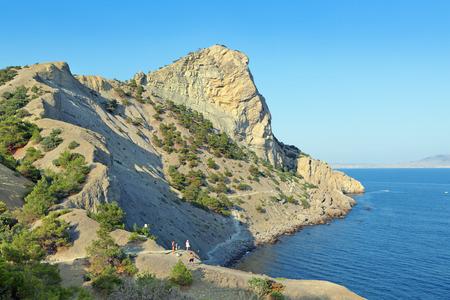 predatory: Republic of Crimea, Village of Novyi Svit, Blue (predatory) Bay and Mount Koba-Kaya, summer landscape