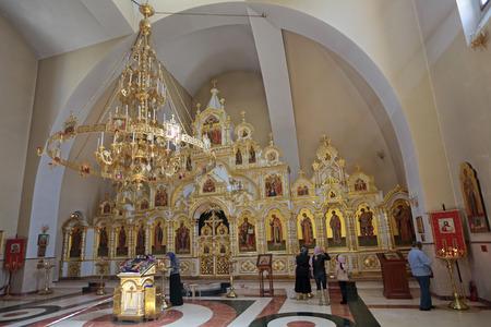 KRASNODAR REGION, SOCHI, RUSSIA - MAR 24, 2014: The temple of the Holy equal of the Apostles Great Prince Vladimir, interior