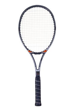 흰색 배경에 고립 된 테니스 라켓, 스톡 콘텐츠