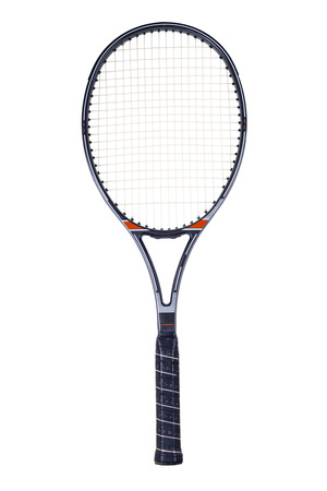 Tennis racket, isolated on white background Stok Fotoğraf