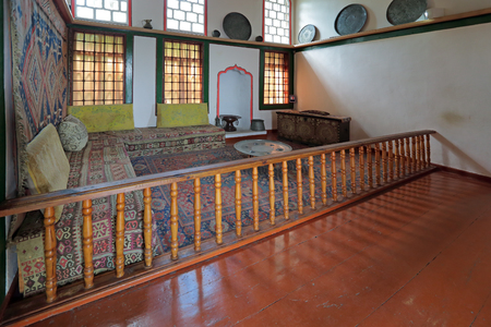 harem: BAKHCHISARAY, REPUBLIC CRIMEA, RUSSIA - AUG 12, 2014: The interior of the Bakhchisaray Palace (Hansaray) the residence of the Crimean khans XVI century. Harem, pantry room Editorial