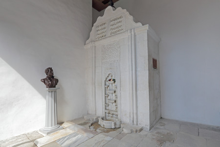 pushkin: BAKHCHISARAY, REPUBLIC CRIMEA, RUSSIA - AUG 12, 2014: The fountain of tears in Bakhchisaray Palace (Hansaray) the residence of the Crimean khans XVI century. Built according to legend, in honor of poisoned beloved wife of the Khan. Became known for the po Editorial