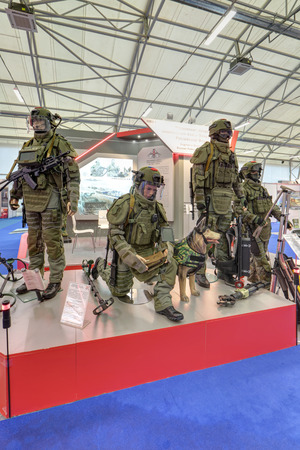 flak: KUBINKA, MOSCOW OBLAST, RUSSIA - JUN 16, 2015: Modern clothing military personnel at the International military-technical forum ARMY-2015 in military-Patriotic park. Editorial
