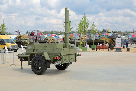 industrially: KUBINKA, MOSCOW OBLAST, RUSSIA - JUN 15, 2015: Military field kitchen at the International military-technical forum ARMY-2015 in military-Patriotic park Editorial