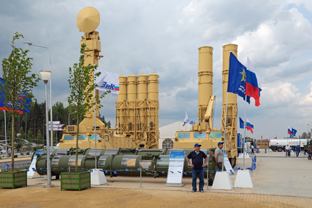KUBINKA, MOSCOW OBLAST, RUSSIA - JUN 15, 2015: The S-300VM