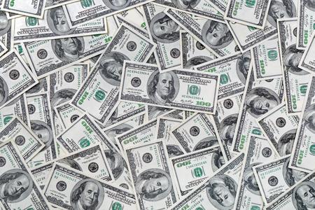 dolar: Antecedentes de 100 billetes de dólar Foto de archivo