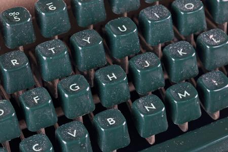 dusty: Dusty keyboard old typewriter, close-up
