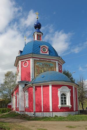 christendom: The Golden Ring - family tourist trails through ancient Russian cities. Yaroslavl region, Pereslavl-Zalessky city, The Church of the intercession (Pokrovskaya church)