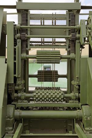 sawmill: The mechanism sawmill a close-up